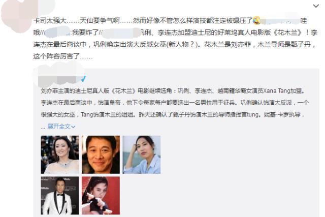 刘亦菲花木兰阵容继续曝光,巩俐气质力压刘亦菲,是大片还是烂片-第6张图片