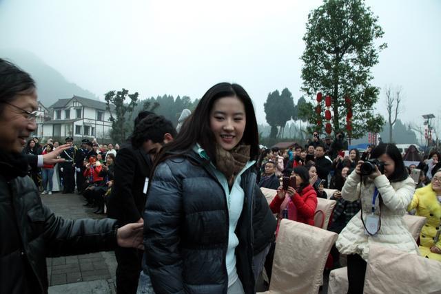 刘亦菲在南充素颜也很美丽,引粉丝追捧-第2张图片