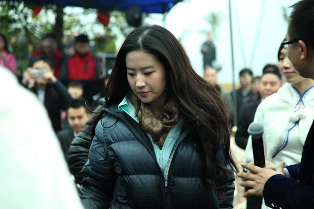 刘亦菲在南充素颜也很美丽,引粉丝追捧-第14张图片