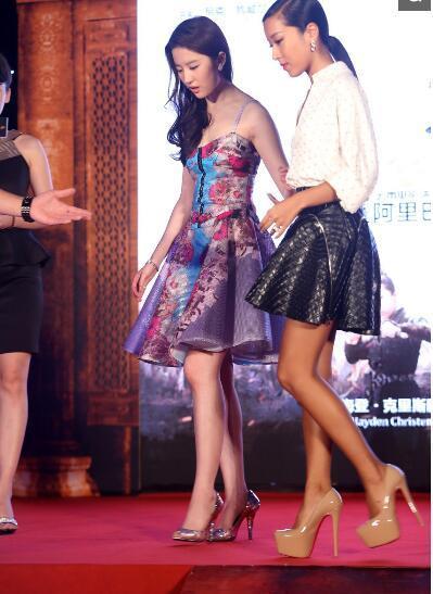 刘亦菲突然瘦腿, 网友:瘦了不止5斤吧!-第4张图片
