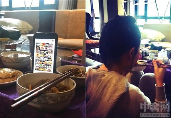 刘亦菲春节晒美照 刘亦菲自嘲假装吃大餐-第1张图片