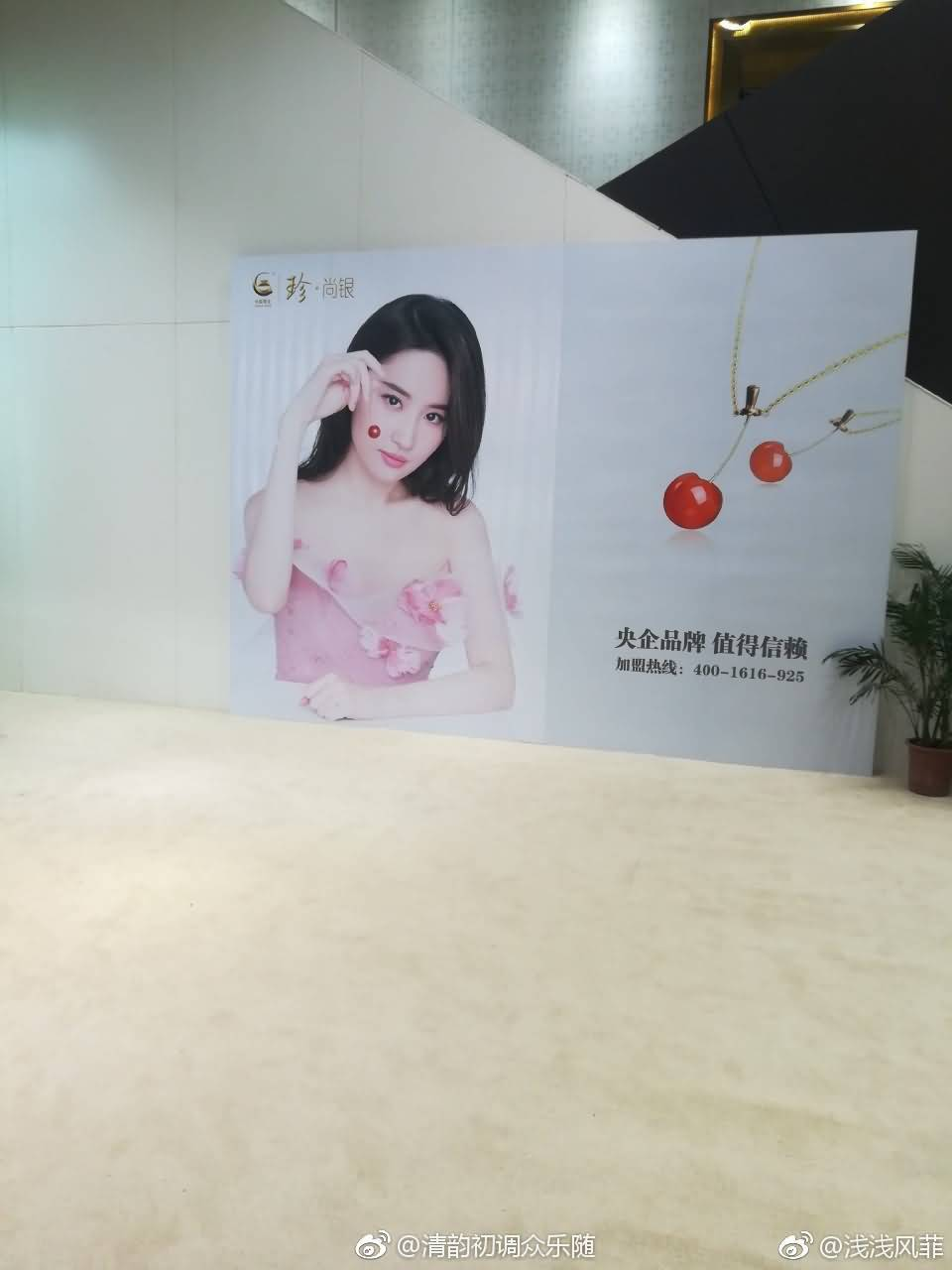 中国黄金深圳珠宝展,ins官方图,刘亦菲海报