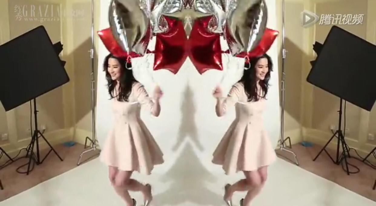 《红秀GRAZIA 》12月30日刊内页拍摄