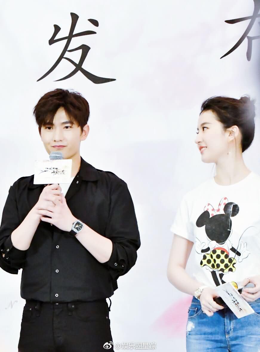 三生三世十里桃花深圳发布会,姑姑今天很活泼了