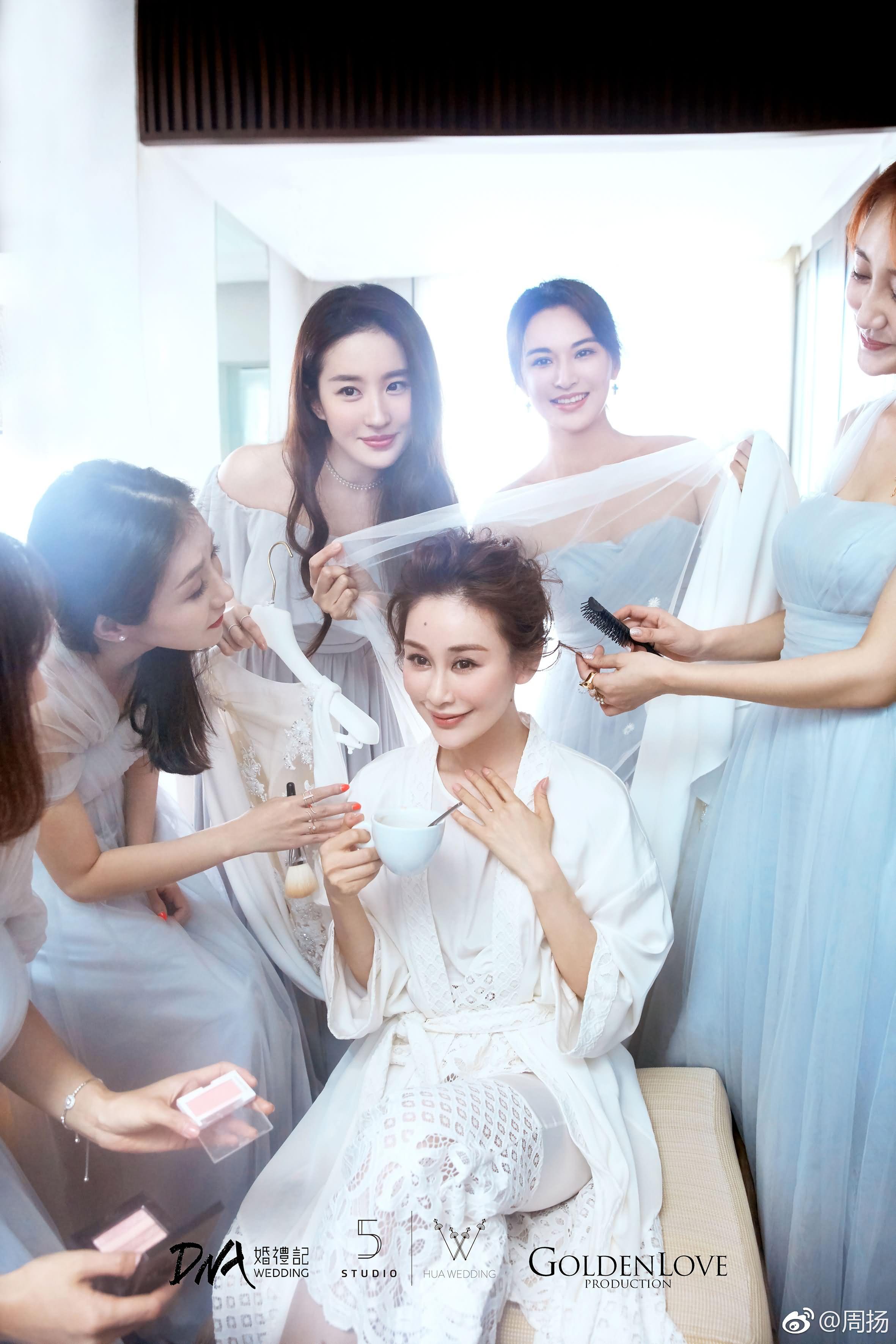 周扬苏梅岛大婚,刘亦菲闺蜜伴娘身份低调亮相出席