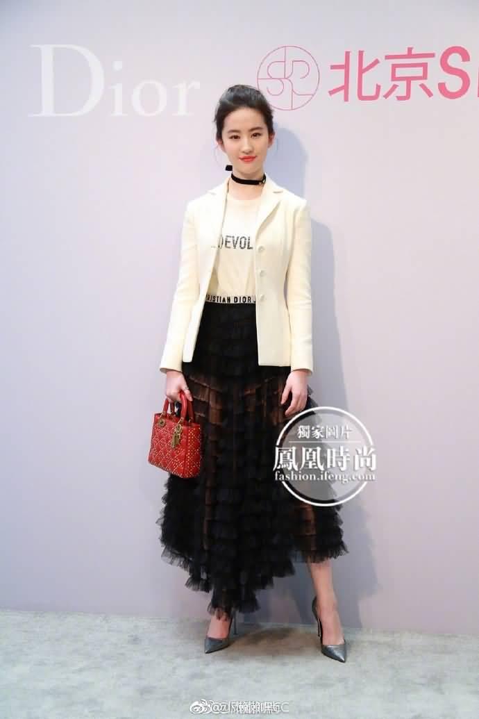 刘亦菲亮相Dior迪奥 二零一七春夏系列臻赏酒会
