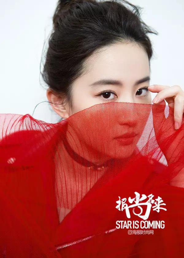 海报网独家拍摄刘亦菲Look《报尚名来》美颜盛世