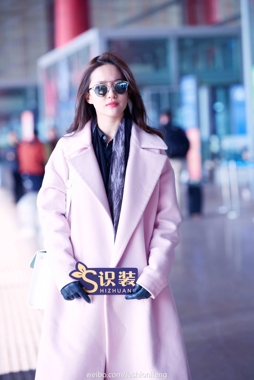 《启程巴黎》凤凰时尚拍摄机场街拍  《刘亦菲》[2016.1.22]