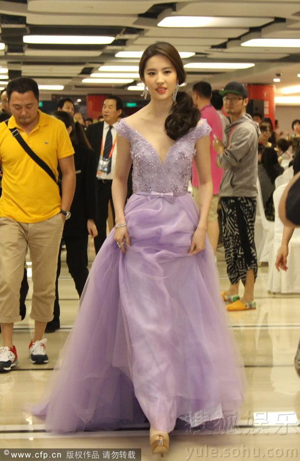 公主装扮出席上海电影节  《刘亦菲》[2014.6.25]