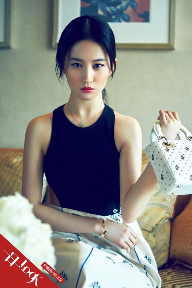 """腾讯时尚""""一日一look"""" 《刘亦菲》[2015.06]"""