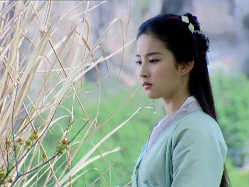 藏在草丛中的古装女子,叶璇淳朴、刘亦菲清纯、贾静雯俏丽-第4张图片