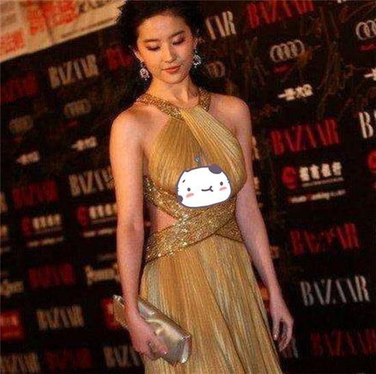 刘亦菲重点部位下垂,玉女形象荡然无存 不忍直视!